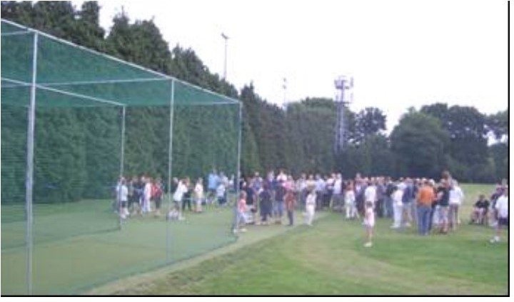 Opening of nets at Chertsey Cricket Club